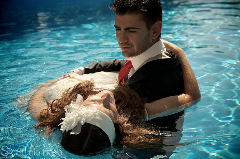 reportaje boda piscina